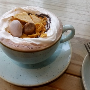 Honeycomb hot chocolate
