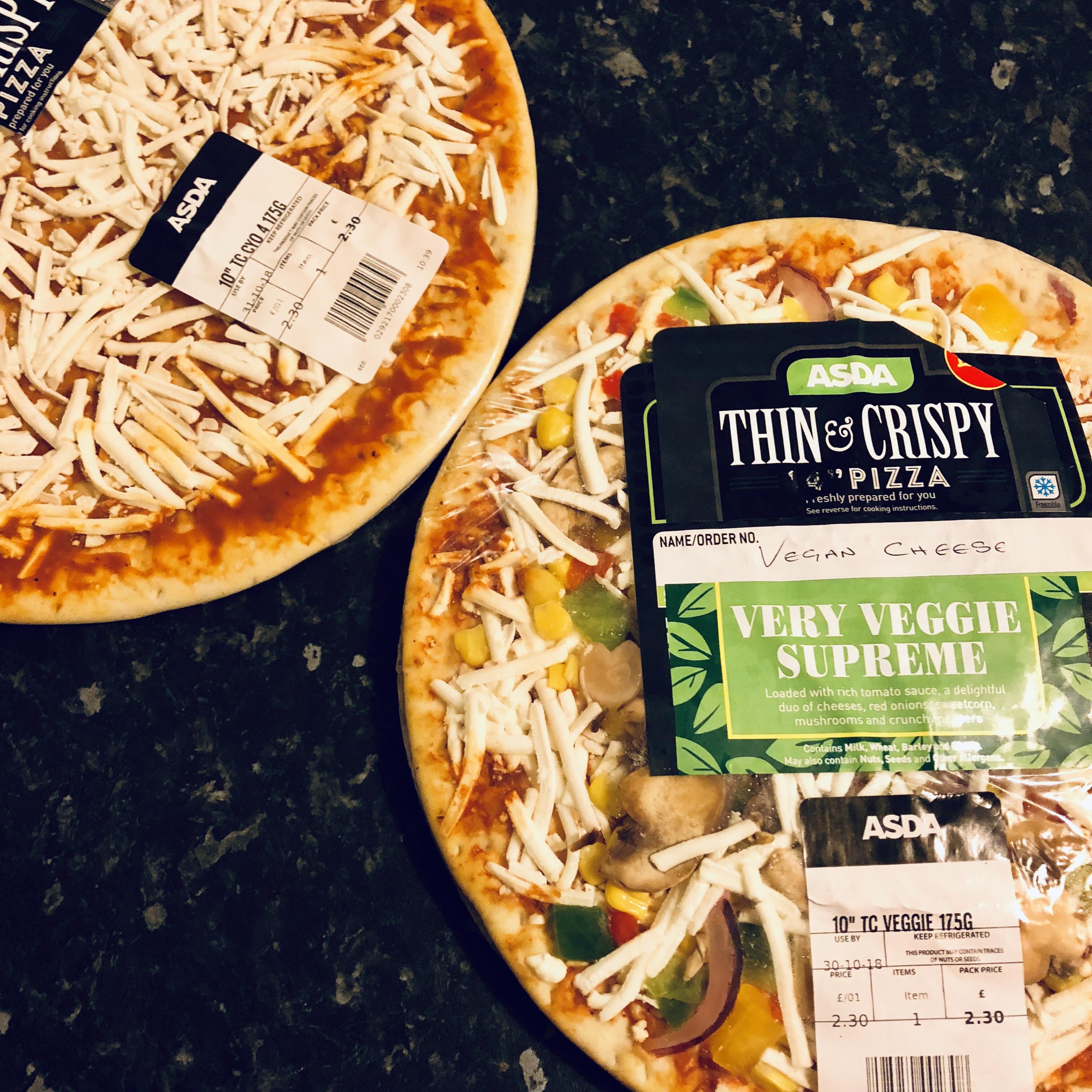 Reveiw Asda Pizza With Vegan Cheese Coastal Vegans